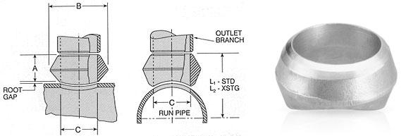 Ss astm a wp flexolet butt weld exporters